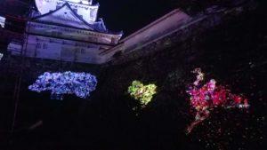 高知市丸ノ内で開催中チームラボ高知城の写真|高知市デザイン住宅SAI