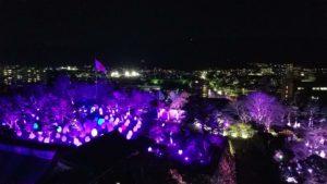 高知市丸ノ内でチームラボ高知城から撮影写真|高知市デザイン住宅SAI
