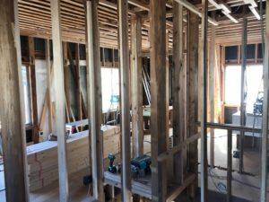 高知市で注文住宅を建てているSAIのリフォーム工事中の2階写真|高知市注文住宅SAI