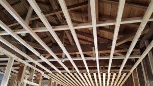 お家内部解体の構造写真|高知市注文住宅SAI