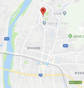 香南市野市町西野の広域地図 高知市注文住宅SAI